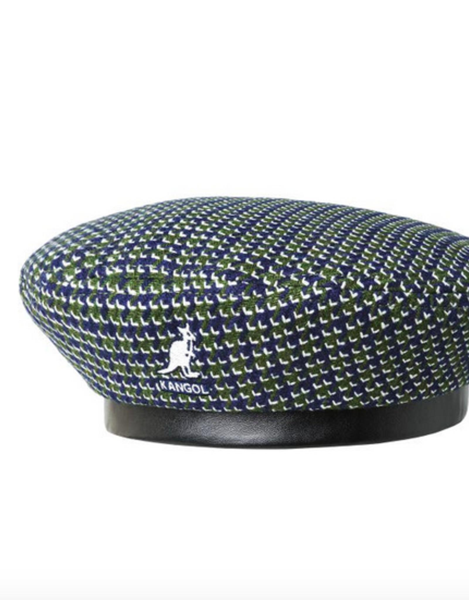 kangol Tooth grid beret Forest/navy L/XL
