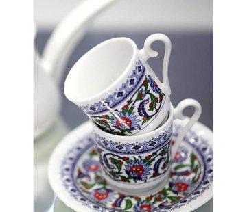 KUTAHYA KUTAHYA PORSELEN TOPKAPI 12-DELIG TURKSE KOFFIESET | ESPRESSOSET