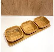 cinar bamboe 4-delige schalenset  33 x 11 cm