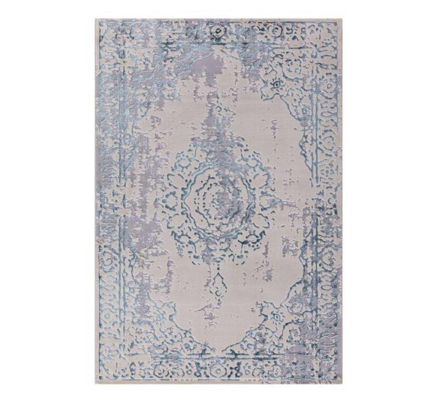 ATLANTIK HALI  PERA 6268 IVORY / BLUE