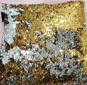 LAVELLA PAILLETTE SIERKUSSENS 35 x 35 cm GRIJS - GOUD