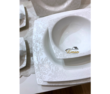 BRICARD PORCELAIN Bricard Porcelain Cannes 6-Persoons | 25-Delig Serviesset