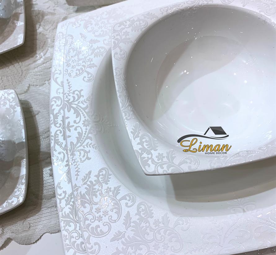 Bricard Porcelain Cannes 6-Persoons | 25-Delig Serviesset