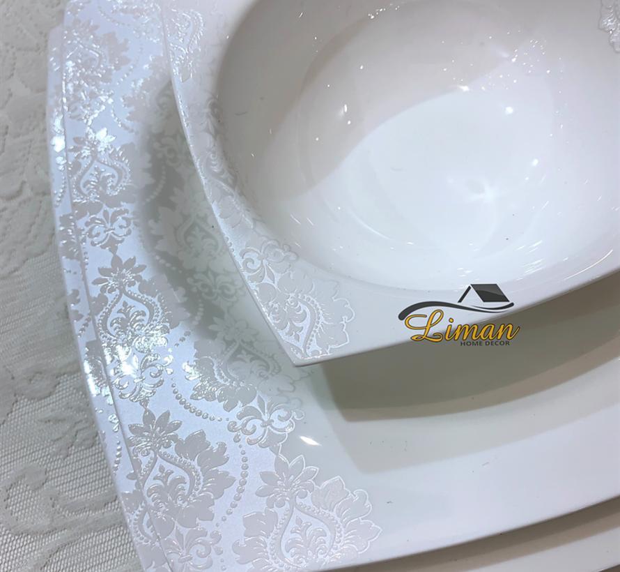 Bricard Porcelain Menton 6-Persoons | 25-Delig Serviesset