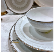 BRICARD PORCELAIN Bricard Porcelain Pessac 6-Persoons | 25-Delig Serviesset