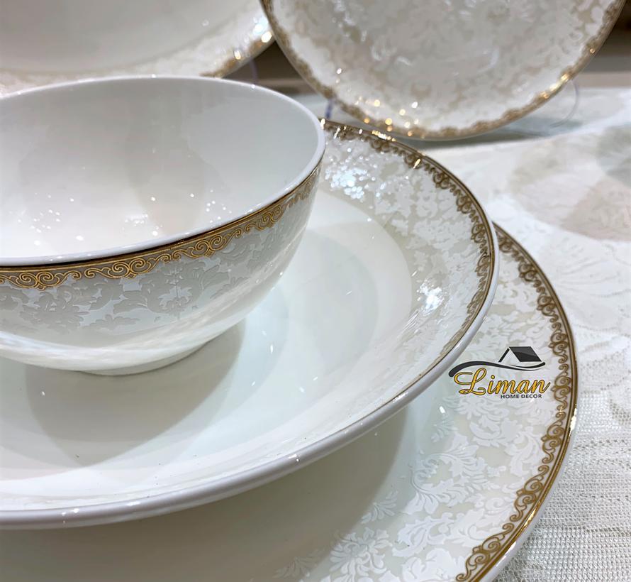 Bricard Porcelain  Troyes  6-Persoons | 25-Delig Serviesset