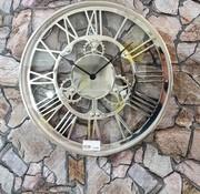 WANDKLOK 50x50CM ROND ROMEINSE CIJFERS 471 A