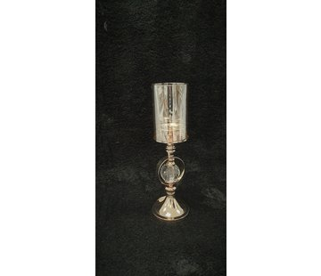 KANDELAAR GOLD-M 12x12x41 cm