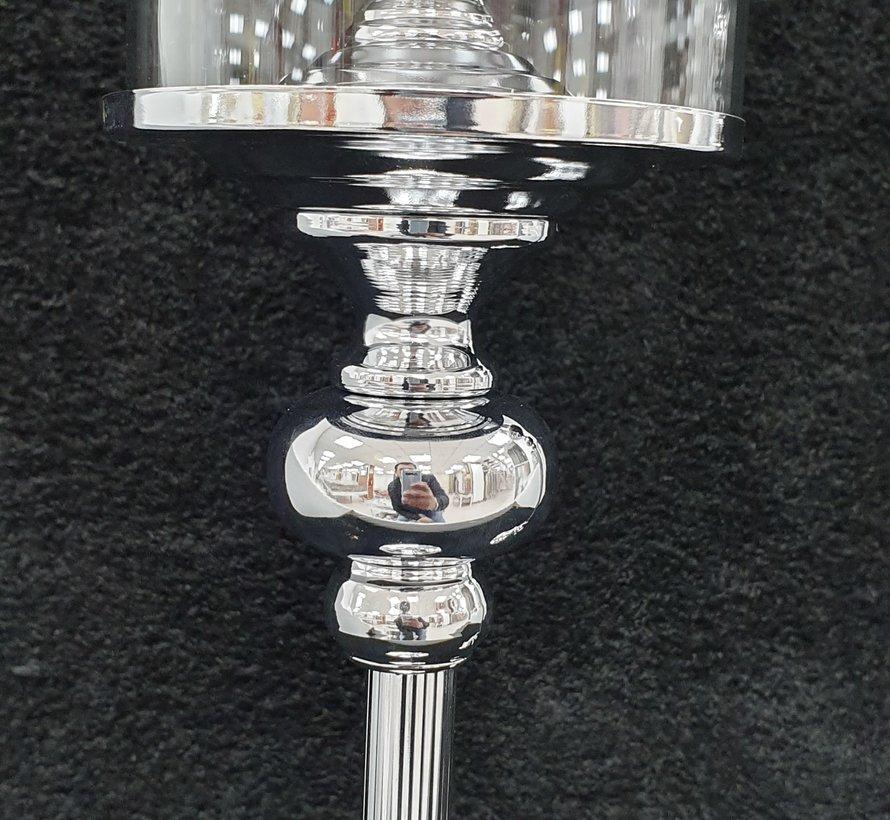 KANDELAAR ZILVER-S 15x15x53 cm