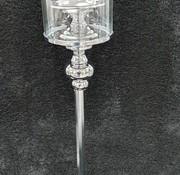 KANDELAAR ZILVER-L 15x15x62.5 cm