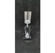 KANDELAAR ZILVER-M 12X12X48 cm