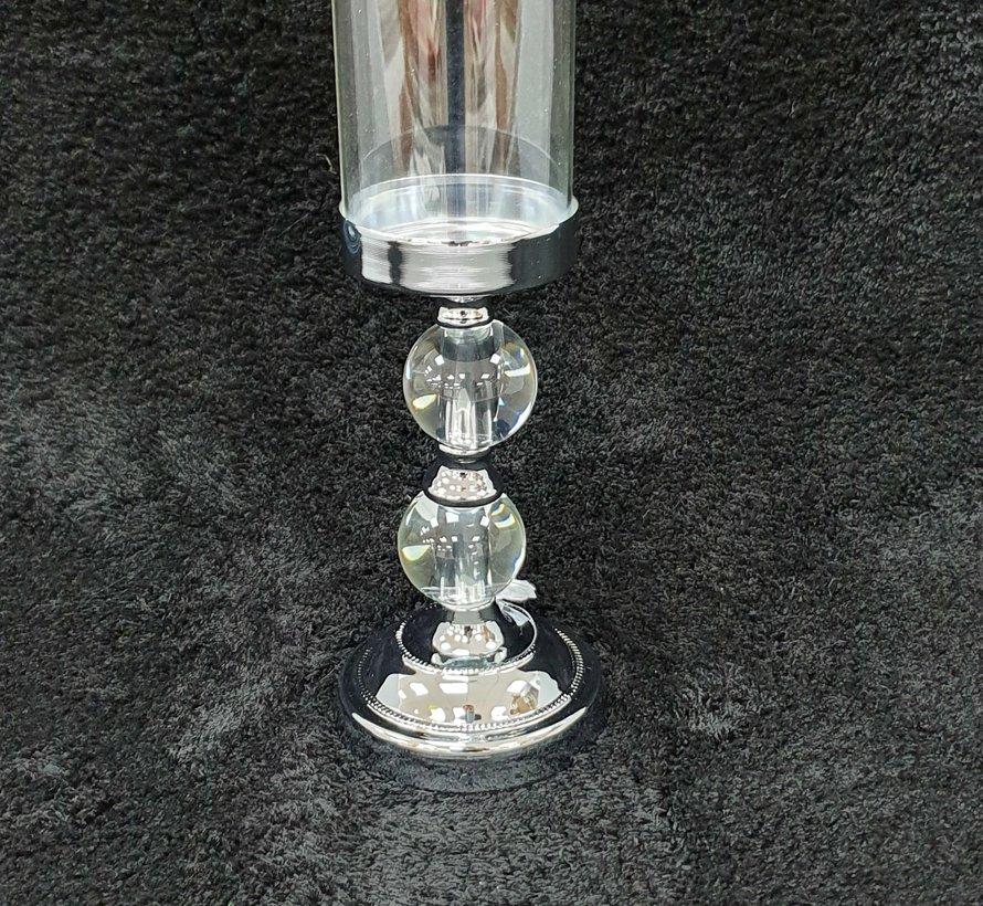 KANDELAAR ZILVER-M 11x11x31 cm