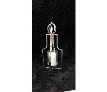 KANDELAAR ZILVER-L 15.5x15.5x49 cm