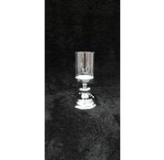 KANDELAAR ZILVER -S 11.5x11.5x23 cm