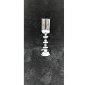 KANDELAAR ZILVER -L 11.5x11.5x34 cm