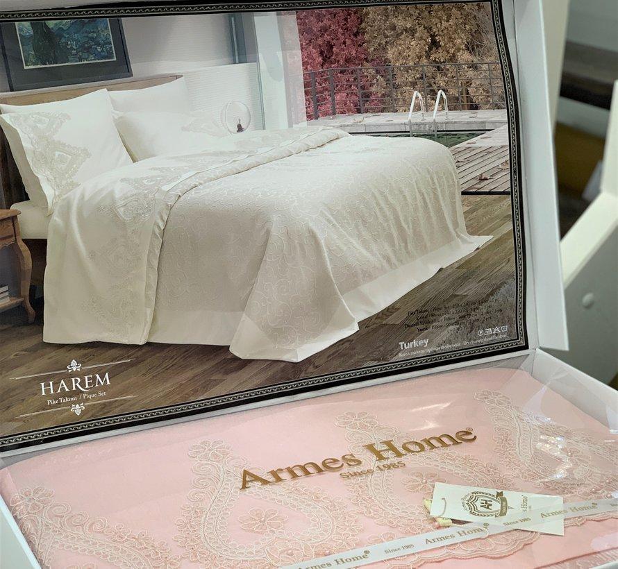 Armes Home Harem Luxe Bedspreiset 6-Delig Pudra