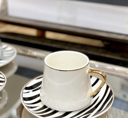 BRICARD PORCELAIN Bricard Zebra Koffieset 12 Delig