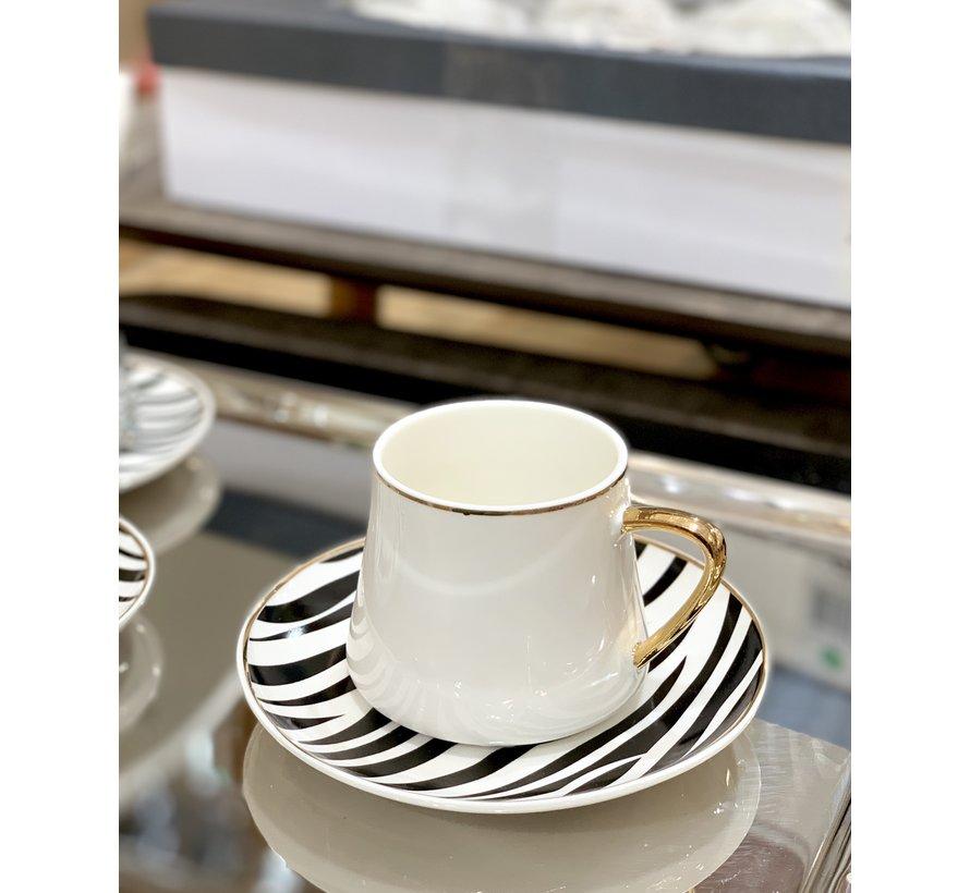 Bricard Zebra Koffieset 12 Delig