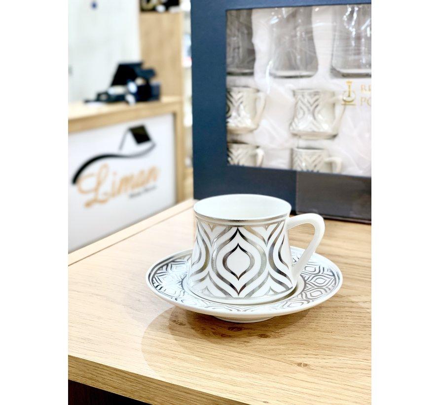 Bricard Ottomans Zilver 12 Delig Koffieset