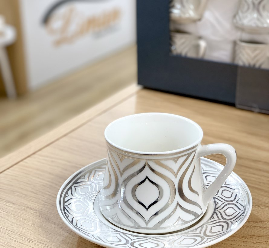 Bricard Ottomans Koffieset 12-Delig | 6-Persoons Zilver