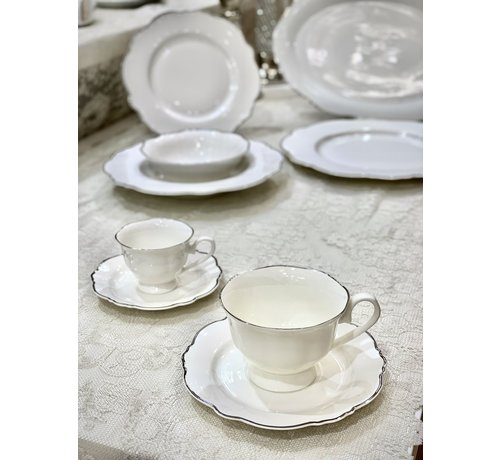 BRICARD PORCELAIN BRICARD Lecci Koffie & Thee set 12-Delig | 6-Persoons