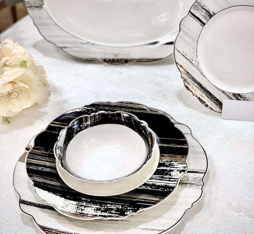 Bricard Porcelain  Banon   6-Persoons | 25-Delig Serviesset