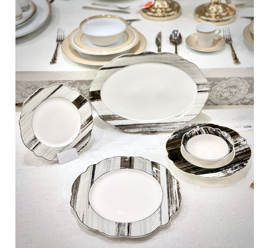 Bricard Porcelain  Banon   6-Persoons | 25-Delig Serviesset