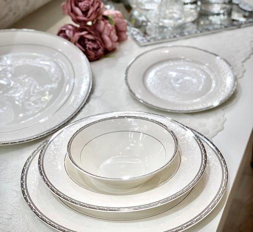 BRICARD PORCELAIN Bricard Porcelain Fayet 6-Persoons   25-Delig Serviesset