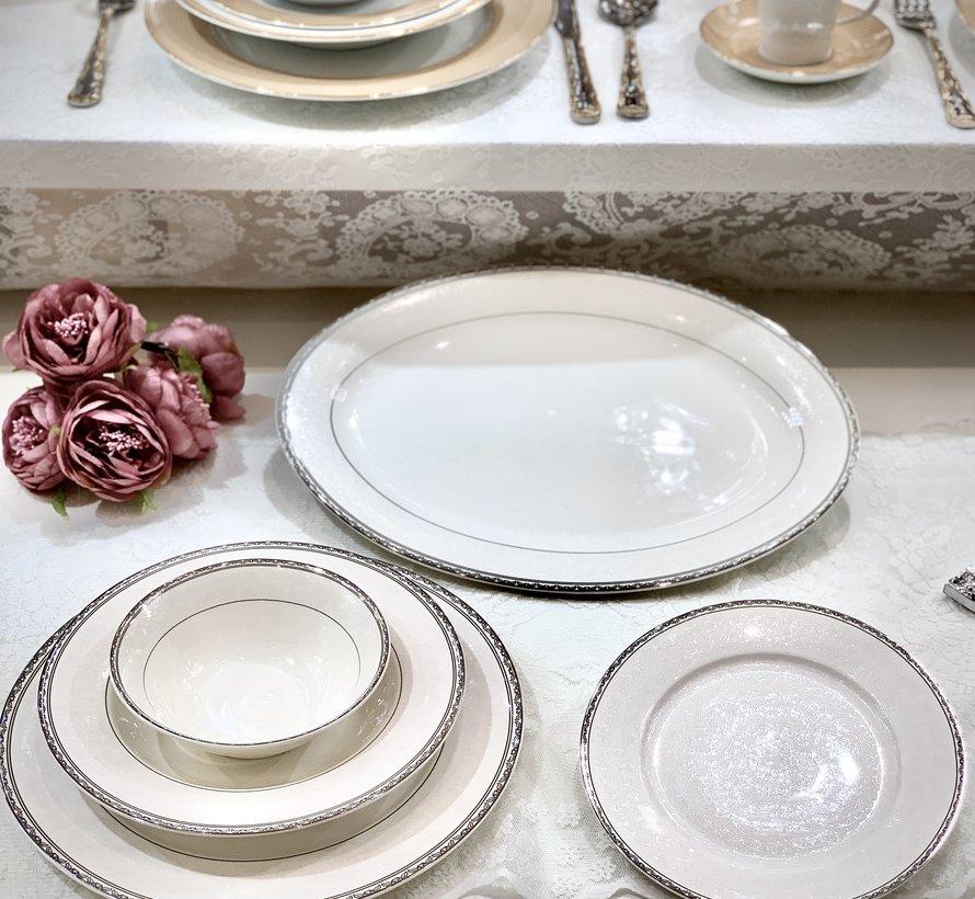 Bricard Porcelain Fayet 6-Persoons   25-Delig Serviesset