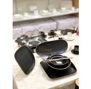BRICARD PORCELAIN Bricard Porcelain Evry 6-Persoons | 25-Delig Serviesset Zwart