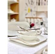 BRICARD PORCELAIN Bricard Porcelain Evry 6-Kisilik | 25-parça Yemek Takımı Beyaz