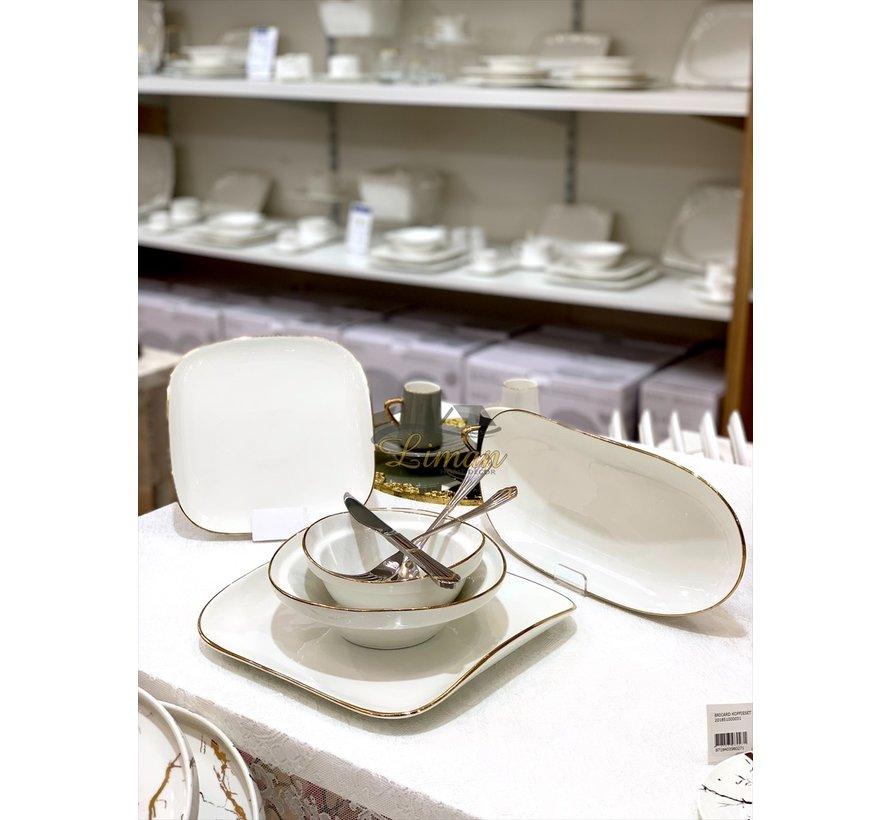 Bricard Porcelain Evry 6-Persoons | 25-Delig Serviesset Wit