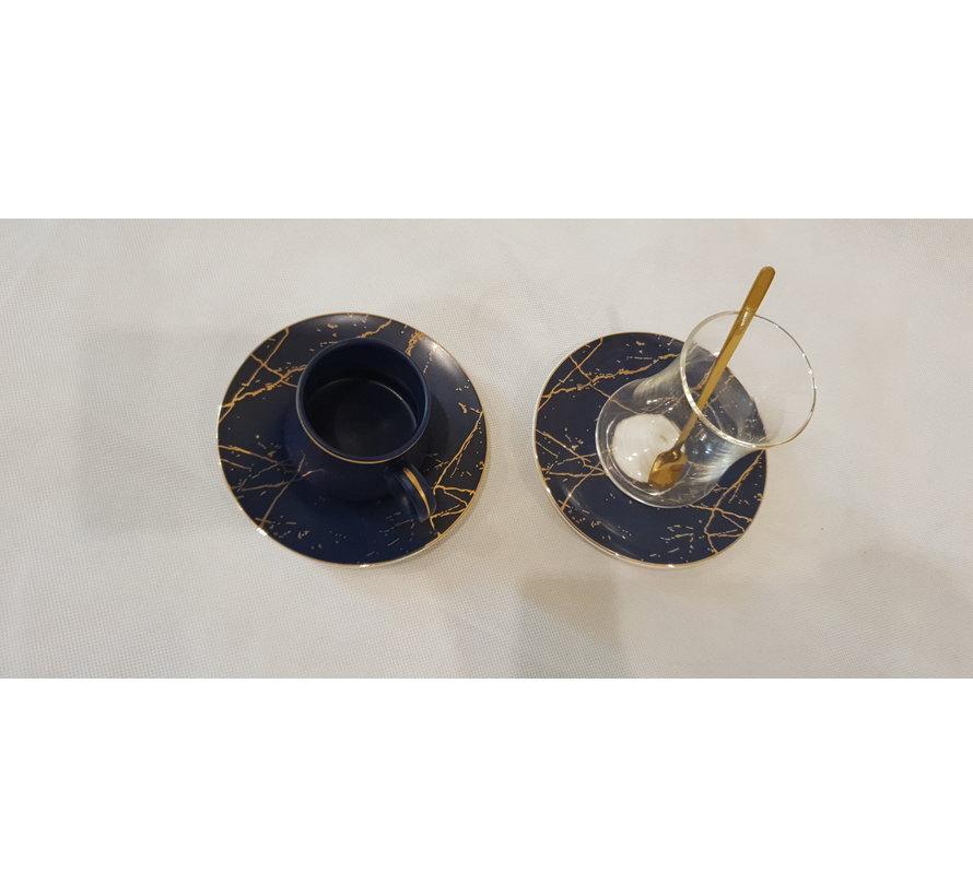 BRICARD ESPRESSO / THEESET  24 DELIG BLUE