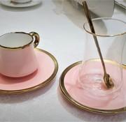 BRICARD PORCELAIN BRICARD 24 DELIG  ESPRESSO - THEESET  ROSE