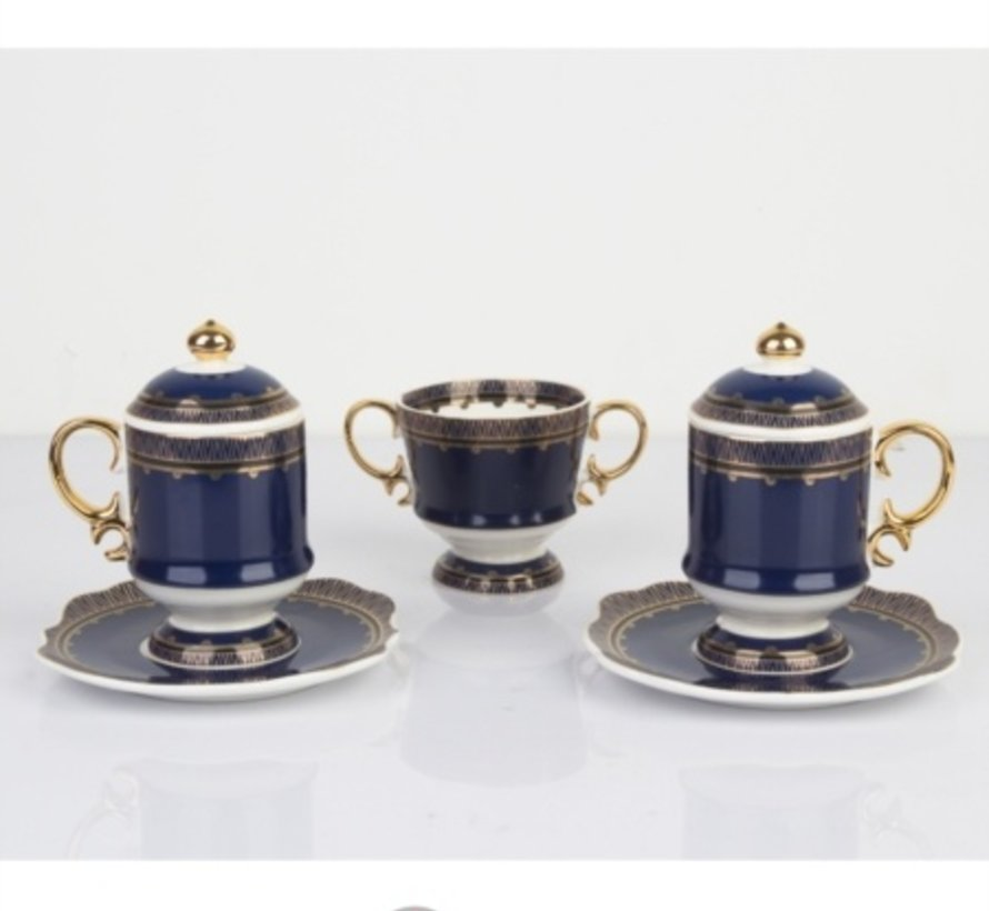 ACR HURREM ESPRESSO SET 2 PERSON 7 DELIG BLUE