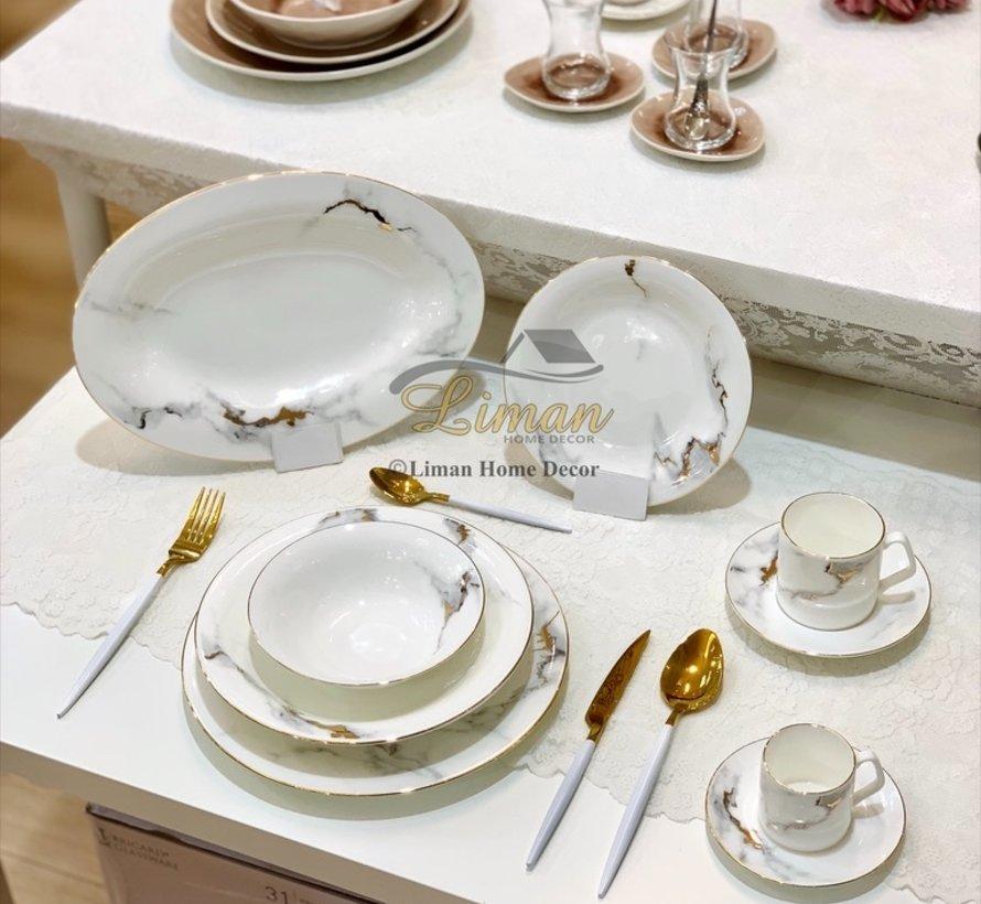 Bricard Porcelain Drancy 6-Persoons | 25-Delig Serviesset Marble
