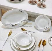 BRICARD PORCELAIN Bricard Porcelain Drancy 6-Kisilik | 25-parça Yemek Takımı Mermer