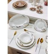 BRICARD PORCELAIN Bricard Porcelain Drancy 6-Kisilik | 25-parça Yemek Takımı