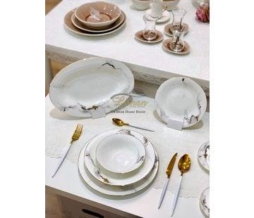 BRICARD PORCELAIN Bricard Porcelain Drancy 6-Persoons   25-Delig Serviesset Marmer