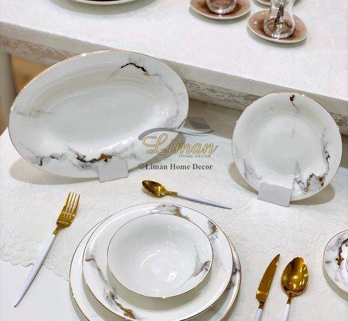 BRICARD PORCELAIN Bricard Porcelain Drancy 6-Persoons | 25-Delig Serviesset Marble