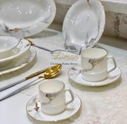 BRICARD PORCELAIN BRICARD DRANCY KOFFIE & THEE SET 12-DELIG