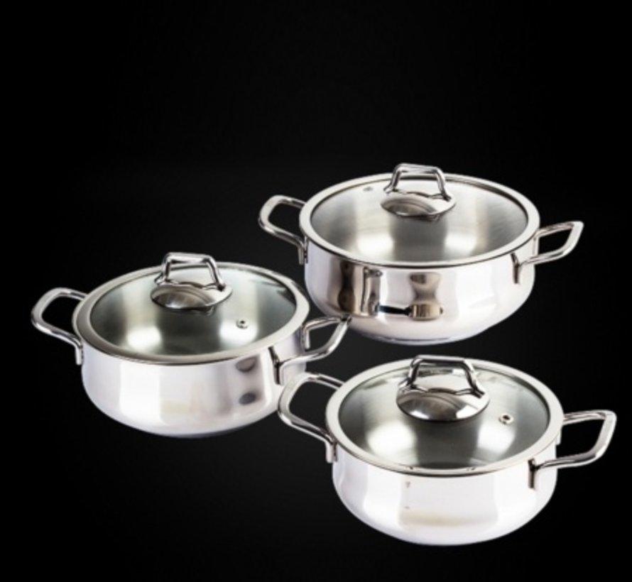 ACR 6 Delig Rvs Mini Kook Pannenset