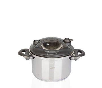 ACR ACR Karat Snelkookpan 2.5 Lt  Grijs + Extra glazen deksel