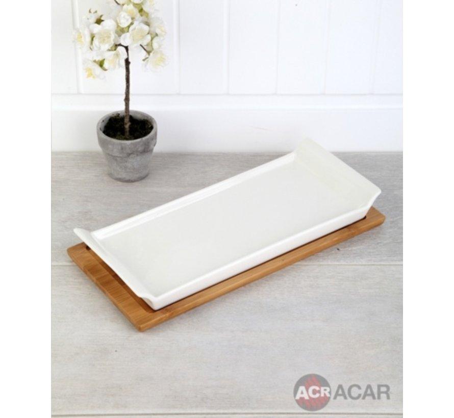 ACR Bamboe 2 Delig Serveerschaal