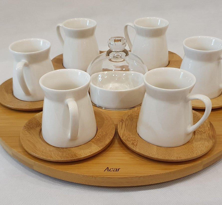 ACR 15 Delig Espressoset met Bamboe Dienblad