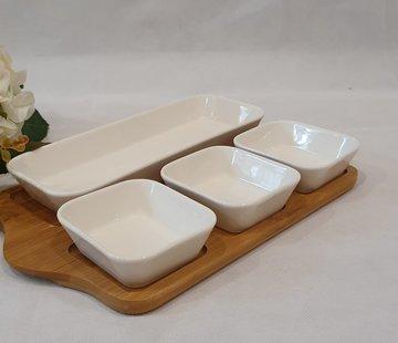 ACR ACR 5 Delig Ontbijtset Met Bamboe Serveerschaal