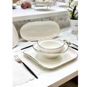 BRICARD PORCELAIN Bricard Porcelain Evry 6-Persoons | 25-Delig Serviesset Wit - Zilver