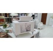 2 Delig Bruidskistenset Marrakesh Creme - Grijs Met Spiegel