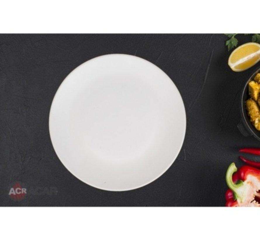 ACR Ege Serveerschaal Rond Mat Cream (Per Stuk)