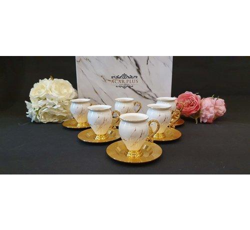 ACR ACR Sultan 12 Delig Espressoset Gold-Wit-Rose